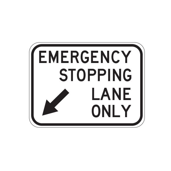 Emergency Stopping Lane Only
