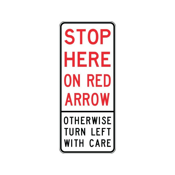 Stop Here on Red Arrow