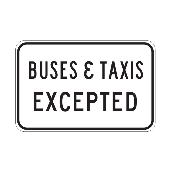 Buses & Taxis Excepted
