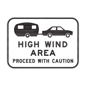 High Wind Area Proceed with Caution