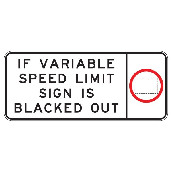 Variable Speed Limit Sign is Blacked Out