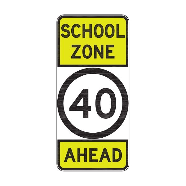 School Zone 40 Ahead