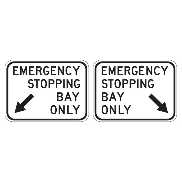 Emergency Stopping Bay Only (L or R)