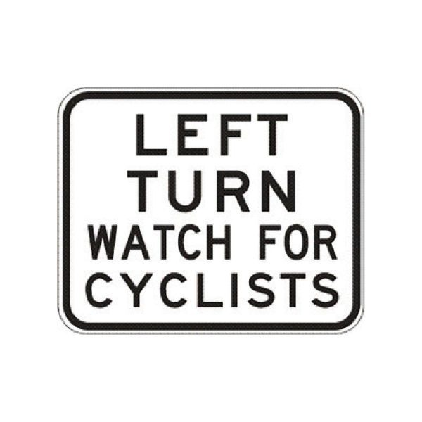 Left Turn Watch for Cyclists
