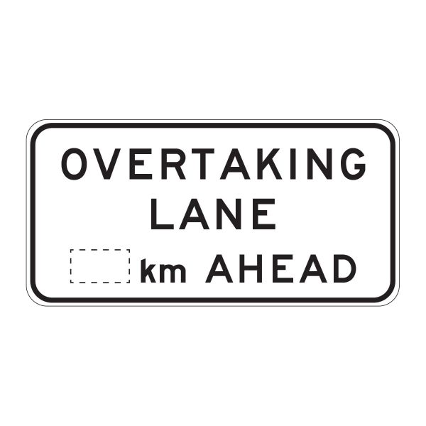 Overtaking Lane _km Ahead