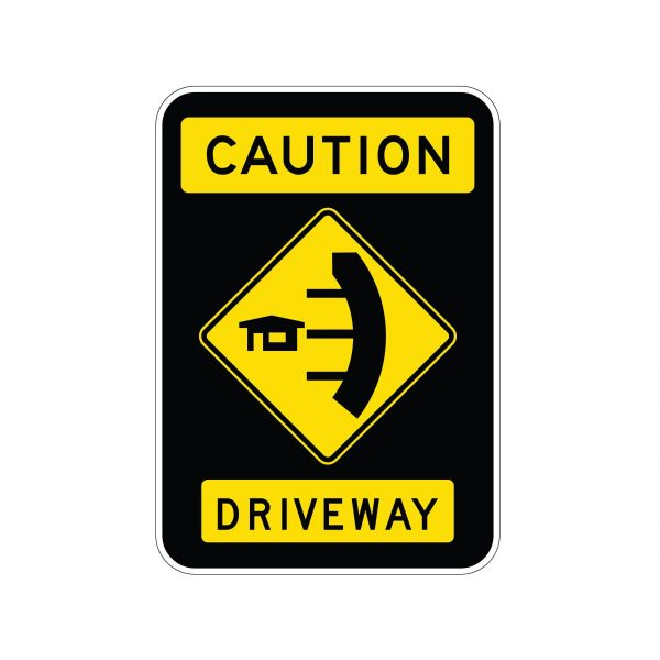 Caution Driveways