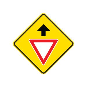Give Way Sign Ahead