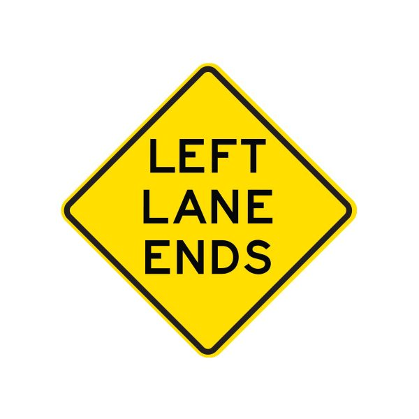 Left/Right Lane Ends