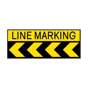 Line Marking with Chevrons