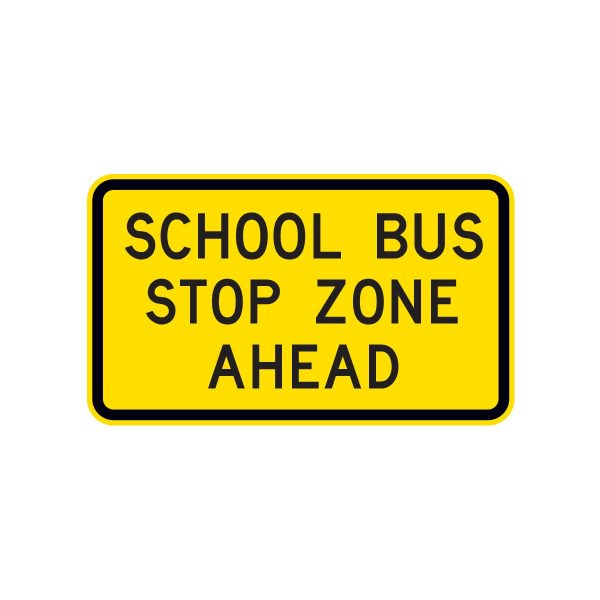 School Bus Stop Zone Ahead